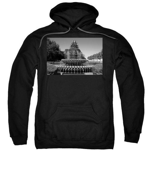 Pineapple Fountain Charleston Sc Black And White Sweatshirt