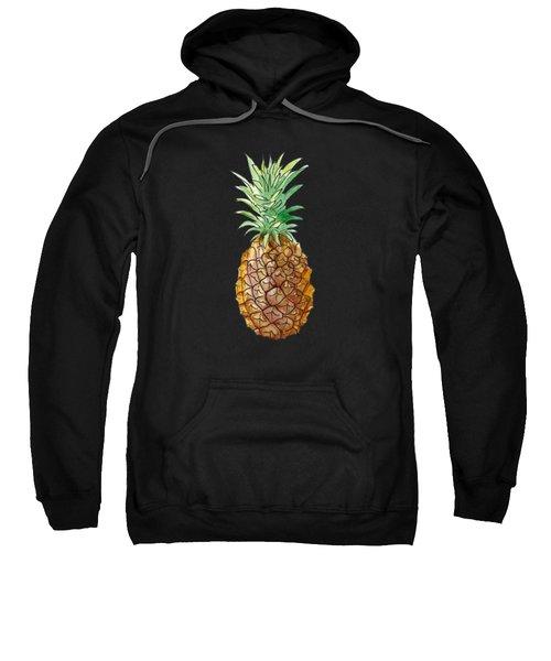 Pineapple On Black Sweatshirt