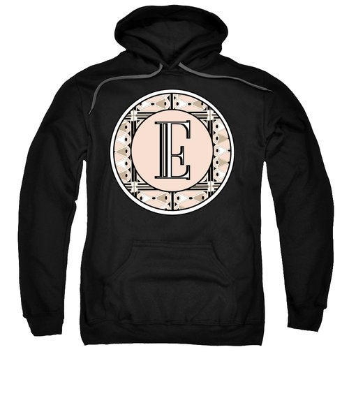 Pink Champagne Deco Monogram  E Sweatshirt