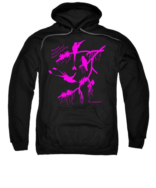 Pink Hummingbirds Sweatshirt