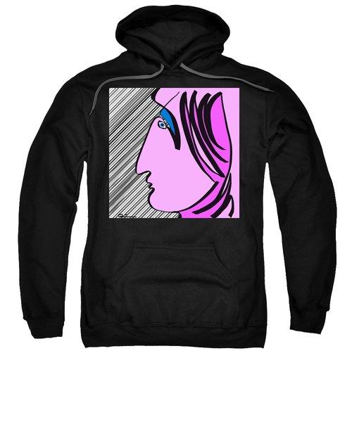 Pink Scarf Sweatshirt