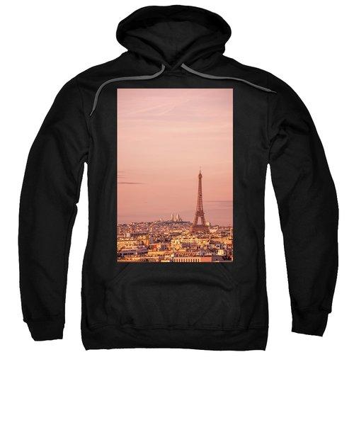Pink Sunset In Paris Sweatshirt