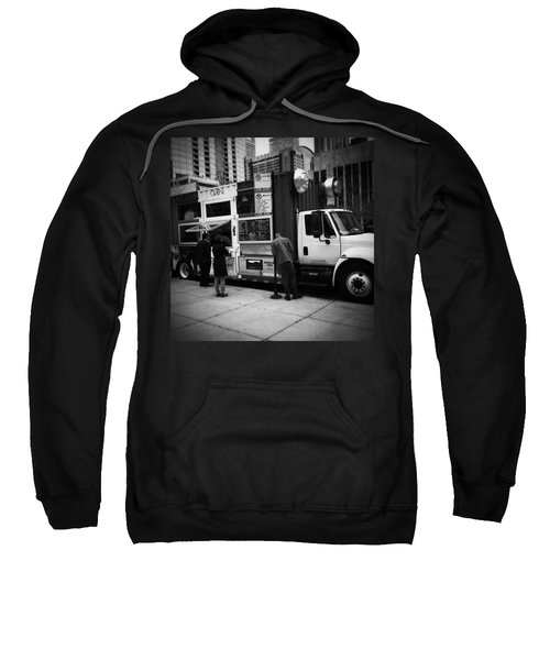 Pizza Oven Truck - Chicago - Monochrome Sweatshirt by Frank J Casella
