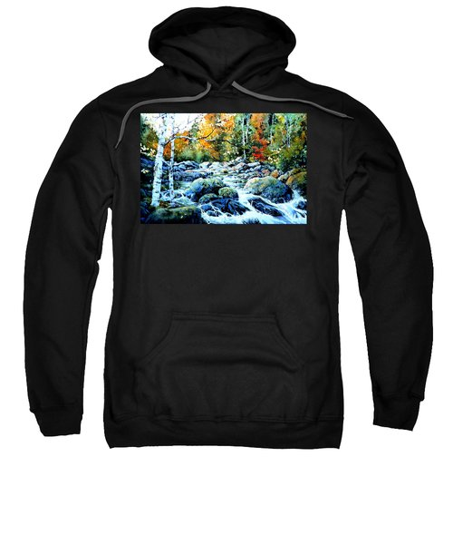 Sweatshirt featuring the painting Polliwog Clearing by Hanne Lore Koehler