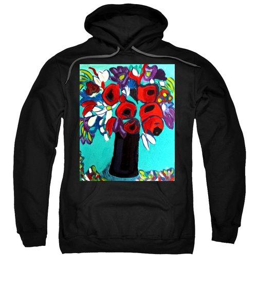 Poppies Red Sweatshirt