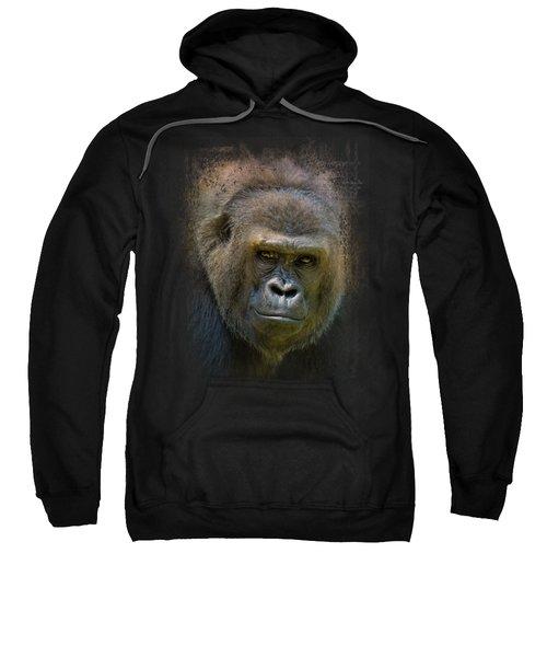 Portrait Of A Gorilla Sweatshirt by Jai Johnson