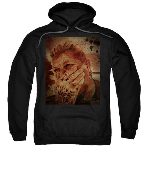 Portrait Of Chris Kross Sweatshirt