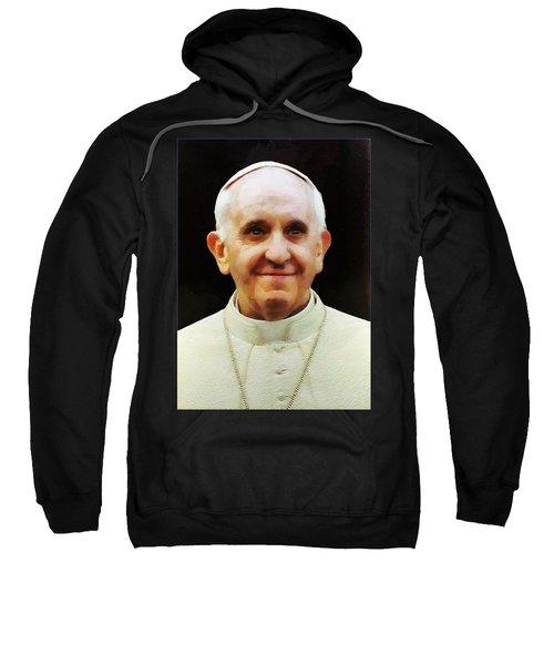 Portrait Of Pope Francis I Sweatshirt
