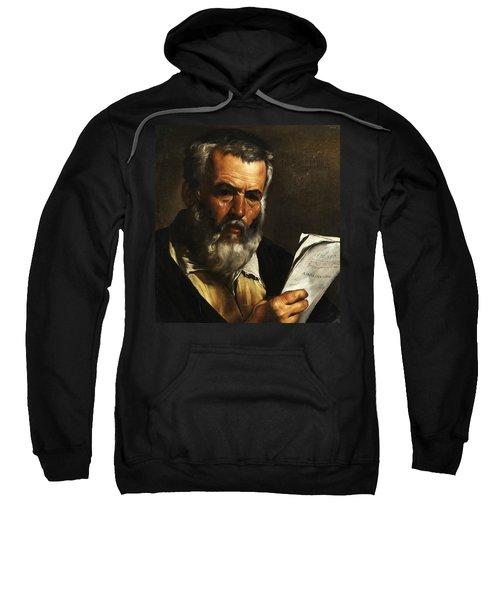 Portrait Of The Philosopher Anaximander Sweatshirt