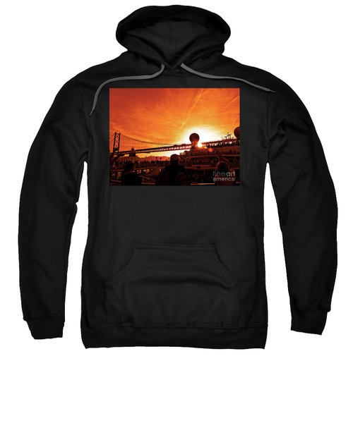 Sunset Under The 25 April Bridge Lisbon Sweatshirt