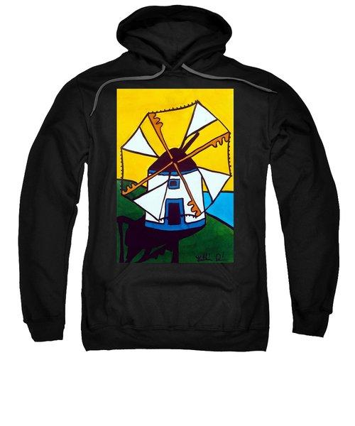Portuguese Singing Windmill By Dora Hathazi Mendes Sweatshirt by Dora Hathazi Mendes