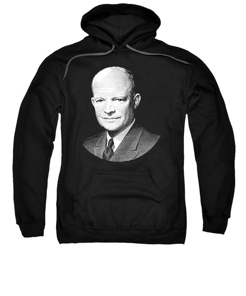 President Dwight Eisenhower Graphic - Black And White Sweatshirt