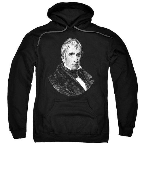 President William Henry Harrison Graphic - Black And White Sweatshirt