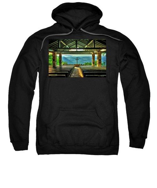 Pretty Place Chapel The Son Has Risen Blue Ridge Mountain Art Sweatshirt