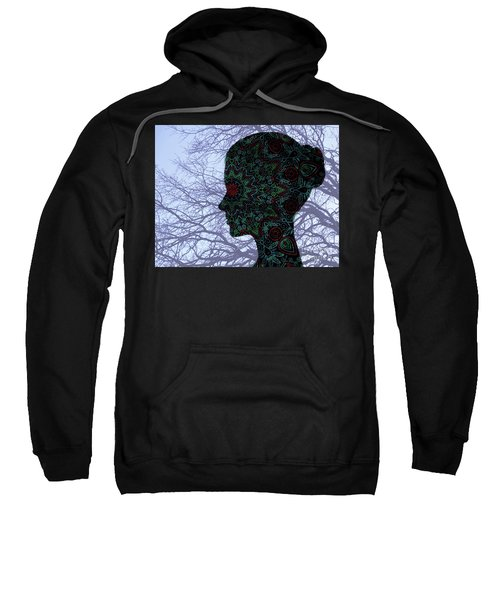 Profile Portrait Of Young Beautiful Woman. Sweatshirt