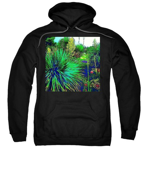 Psychedelic Yuccas. #plant #yucca Sweatshirt by Austin Tuxedo Cat