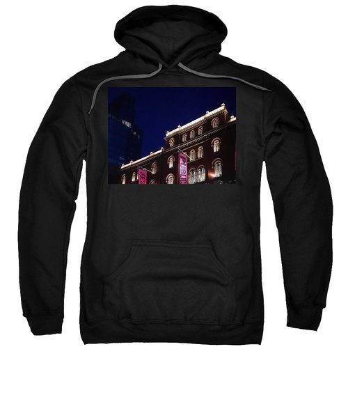 Public Theater Nyc  Sweatshirt by Sandy Taylor