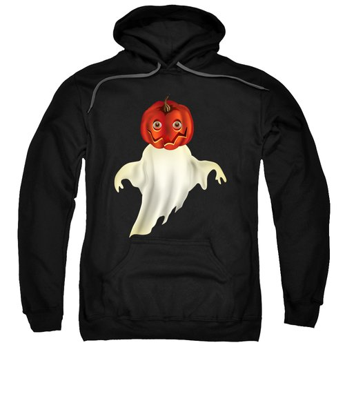 Pumpkin Headed Ghost Graphic Sweatshirt