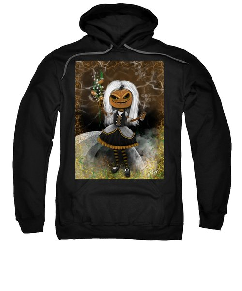 Pumpkin Spice Latte Monster Fantasy Art Sweatshirt
