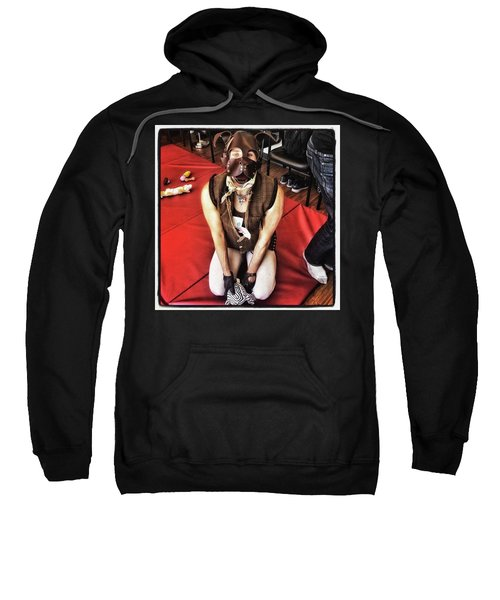Sweatshirt featuring the photograph Puppy Play. Human Canine Training by Mr Photojimsf