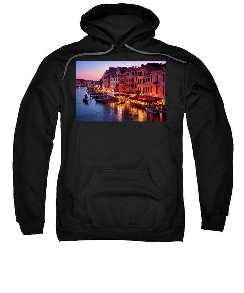 Cityscape From The Rialto In Venice, Italy Sweatshirt