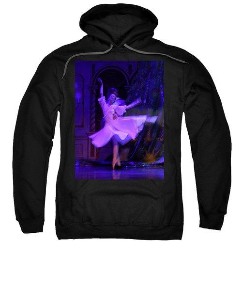 Purple Ballet Dancer Sweatshirt