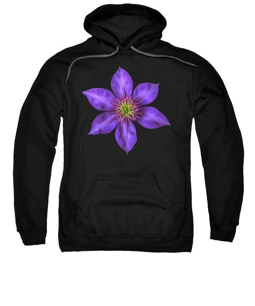 Purple Clematis Flower With Soft Look Effect Sweatshirt