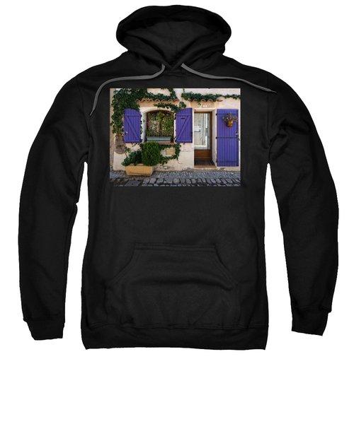 Purple Shutters Sweatshirt