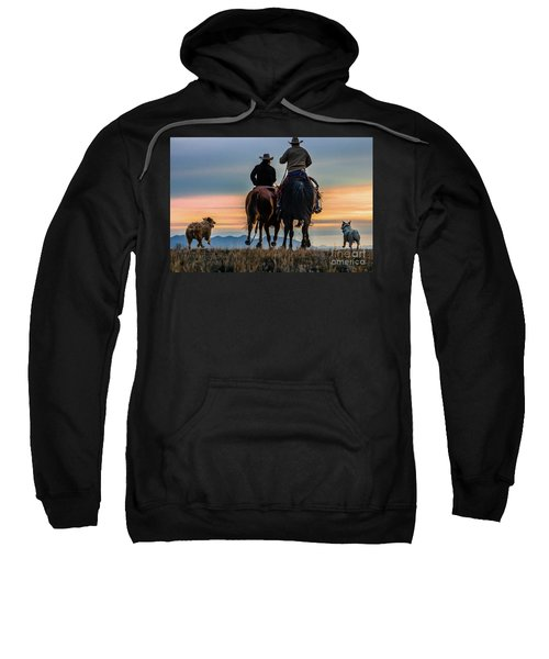 Racing To The Sun Wild West Photography Art By Kaylyn Franks Sweatshirt