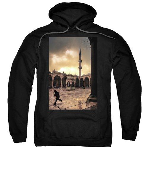 Rain At The Blue Mosque Sweatshirt