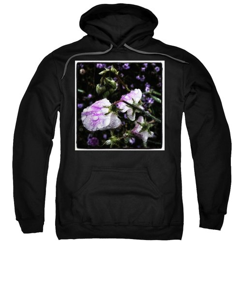 Sweatshirt featuring the photograph Rain Kissed Petals. This Flower Art by Mr Photojimsf
