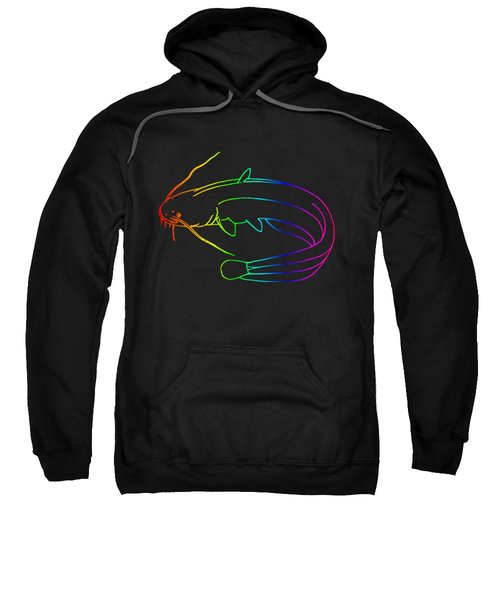 Rainbow Catfish Sweatshirt by Frederick Holiday
