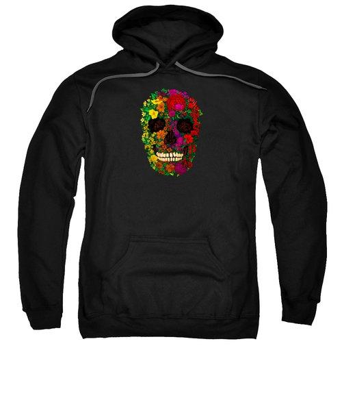 Rainbow Flowers Sugar Skull Sweatshirt