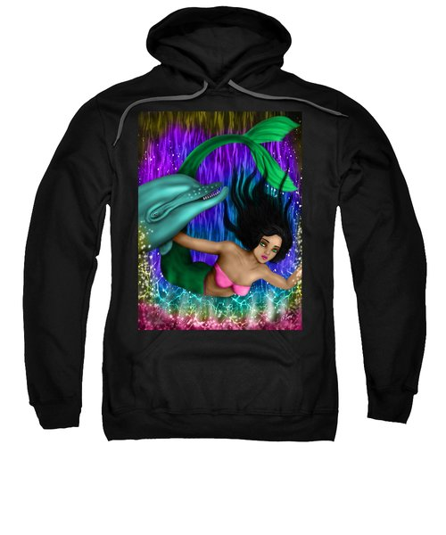 Rainbow Sea Mermaid - Fantasy Art Sweatshirt