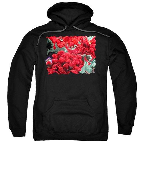 Raspberries Sweatshirt by Kathy Moll