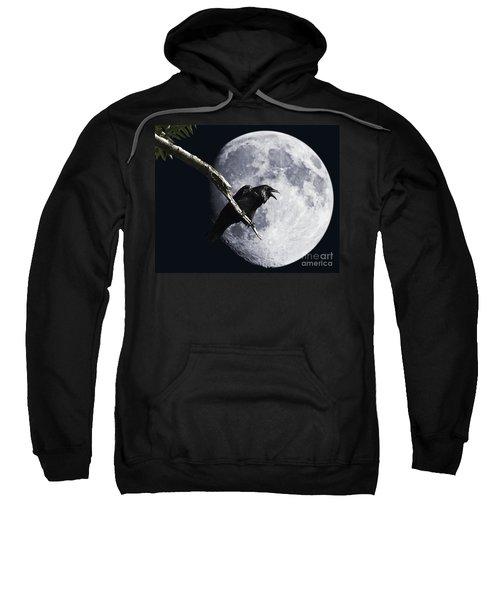 Raven Barking At The Moon Sweatshirt