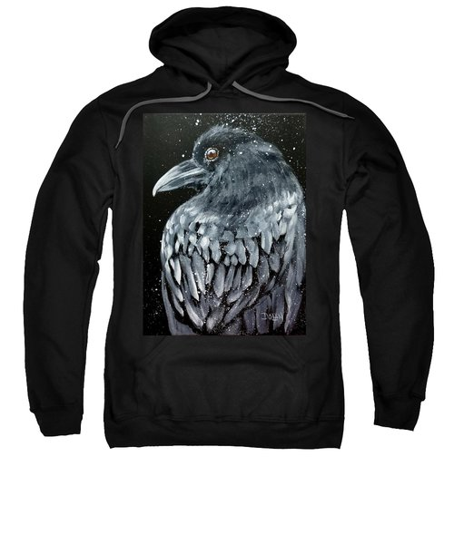 Raven In Snow Sweatshirt