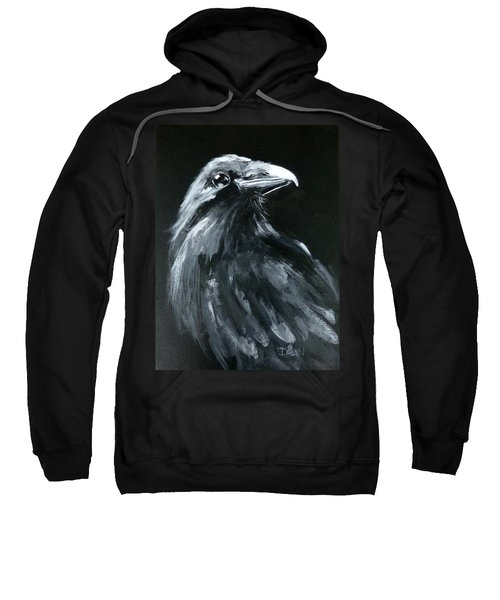 Raven Looking Right Sweatshirt
