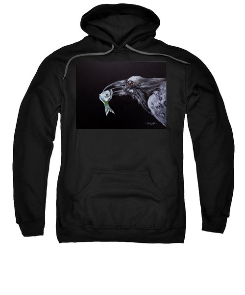 Raven With Fish Sweatshirt