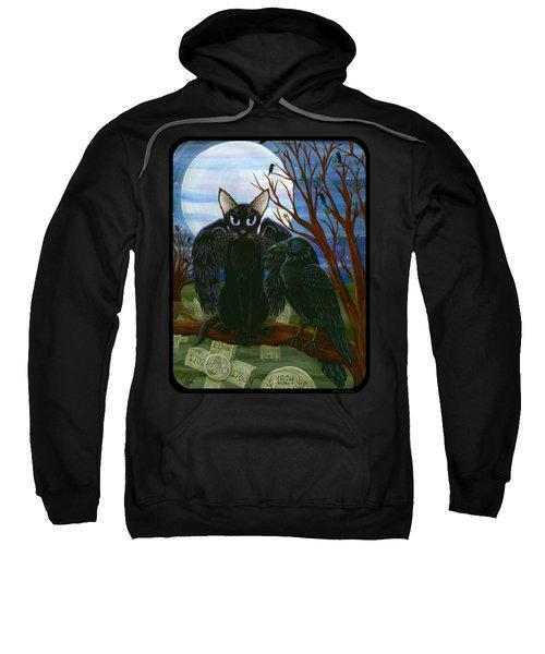 Raven's Moon Black Cat Crow Sweatshirt