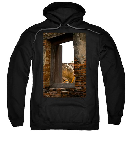 Reclining Buddha View Through A Window Sweatshirt