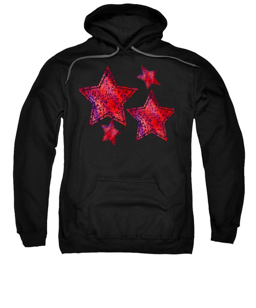 Red And Blue Splatter Abstract Sweatshirt