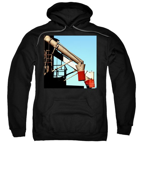 Sweatshirt featuring the photograph Red Chutes by Stephen Mitchell