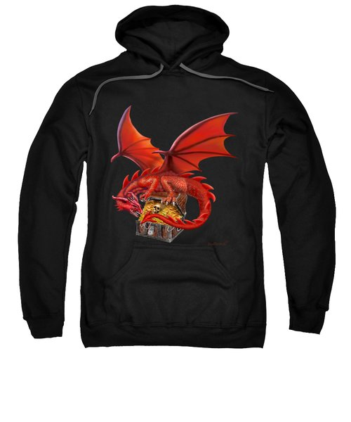 Red Dragon's Treasure Chest Sweatshirt by Glenn Holbrook