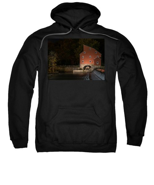 Red Mill At Night Clinton New Jersey Sweatshirt