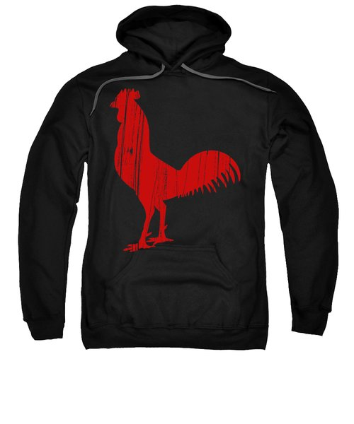 Red Rooster Tee Sweatshirt by Edward Fielding