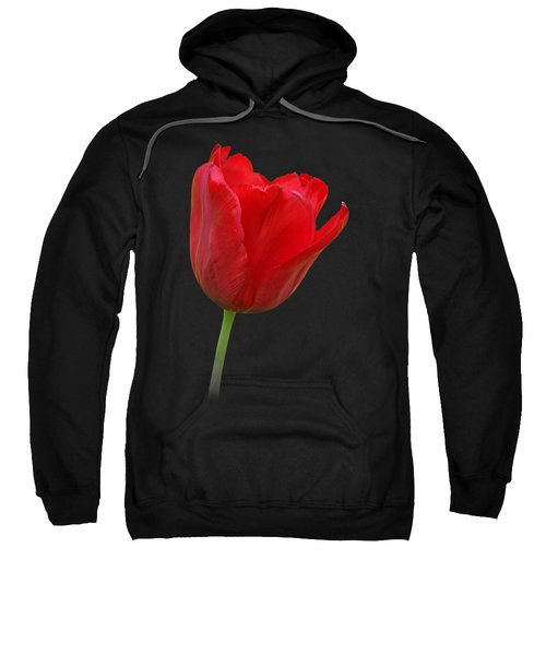 Red Tulip Open Sweatshirt