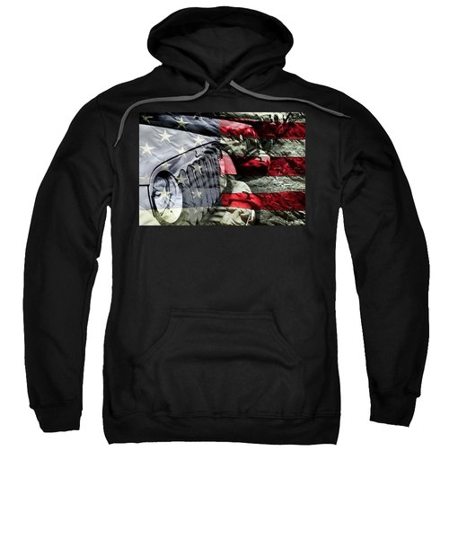 Red White And Jeep Sweatshirt