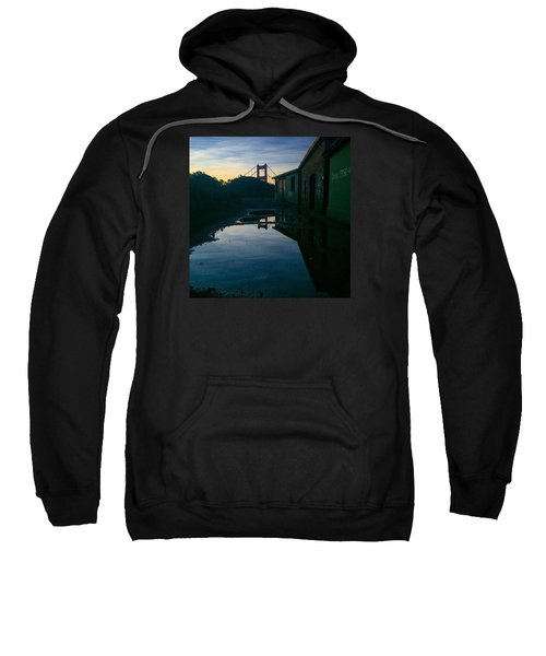 Reflecting On Past Wars Sweatshirt by Eugene Evon