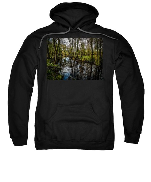 Sweatshirt featuring the photograph Reflections At Yeats Thoor Ballylee by James Truett